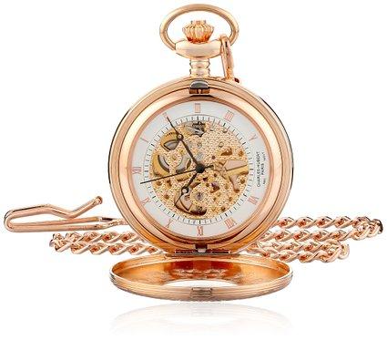 チャールズヒューバート Charles-Hubert, Paris 懐中時計 ポケット ウォッチ ホワイト 3806 送料無料 【並行輸入品】