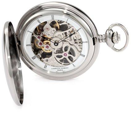 チャールズヒューバート Charles-Hubert, Paris 懐中時計 ポケット ウォッチ ホワイト 3905-W 送料無料 【並行輸入品】
