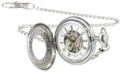 チャールズヒューバート Charles-Hubert, Paris 懐中時計 ポケット ウォッチ ホワイト 3565 送料無料 【並行輸入品】
