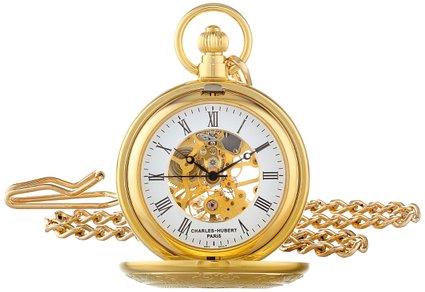 チャールズヒューバート Charles-Hubert, Paris 懐中時計 ポケット ウォッチ ホワイト 3527 送料無料 【並行輸入品】