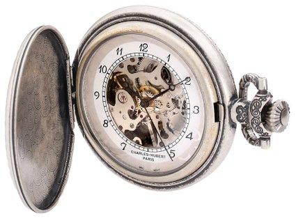 チャールズヒューバート Charles-Hubert, Paris 懐中時計 ポケット ウォッチ ホワイト 3920 送料無料 【並行輸入品】