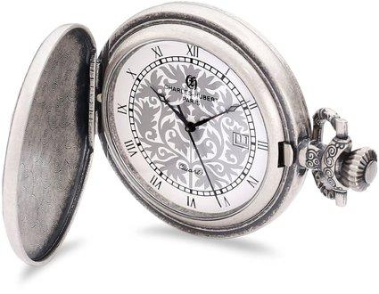 チャールズヒューバート Charles-Hubert, Paris 懐中時計 ポケット ウォッチ ホワイト 3926 送料無料 【並行輸入品】