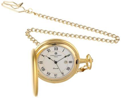 チャールズヒューバート Paris 懐中時計 ポケット ウォッチ ホワイト ...