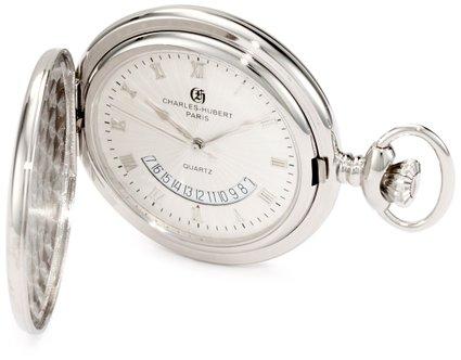 チャールズヒューバート Charles-Hubert, Paris 懐中時計 ポケット ウォッチ ホワイト 3900-W 送料無料 【並行輸入品】