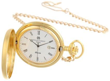 チャールズヒューバート Charles-Hubert, Paris 懐中時計 ポケット ウォッチ ホワイト 3675 送料無料 【並行輸入品】