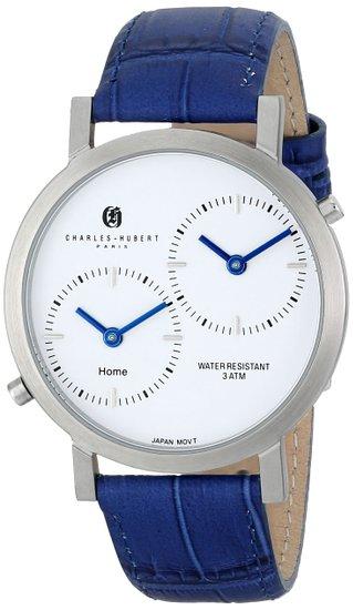 チャールズヒューバート Charles-Hubert, Paris 男性用 腕時計 メンズウォッチ ホワイト 3549-E 送料無料 【並行輸入品】