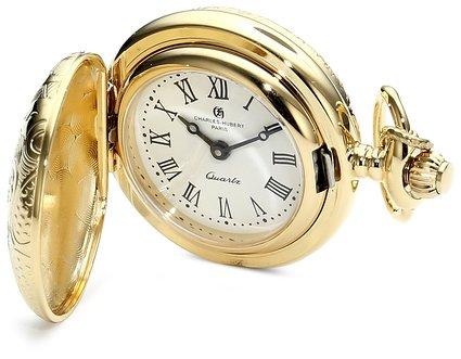 チャールズヒューバート Charles-Hubert, Paris 懐中時計 ポケット ウォッチ ペンダントウォッチホワイト 6818 送料無料 【並行輸入品】