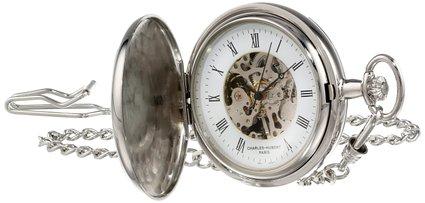 チャールズヒューバート Charles-Hubert, Paris 懐中時計 ポケット ウォッチ ホワイト 3711 送料無料 【並行輸入品】