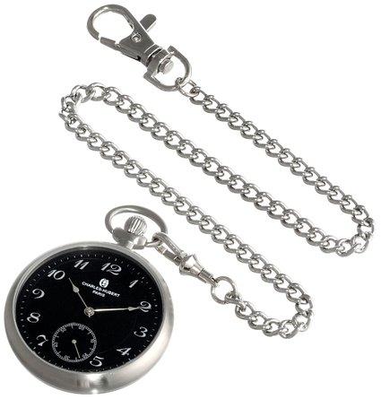 チャールズヒューバート Charles-Hubert, Paris 懐中時計 ポケット ウォッチ ブラック 3955-B 送料無料 【並行輸入品】