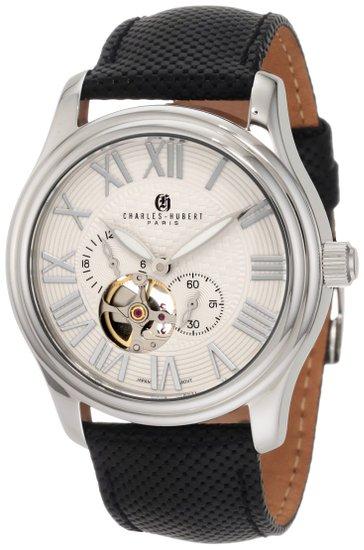 チャールズヒューバート Charles-Hubert, Paris 男性用 腕時計 メンズウォッチ ホワイト 3894-W 送料無料 【並行輸入品】