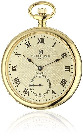 チャールズヒューバート Charles-Hubert, Paris 懐中時計 ポケット ウォッチ ゴールド 3912-G 送料無料 【並行輸入品】