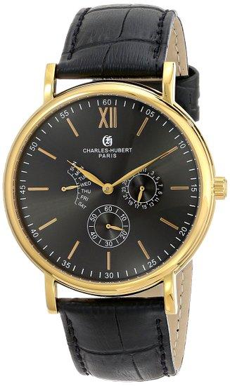 チャールズヒューバート Charles-Hubert, Paris 男性用 腕時計 メンズウォッチ ブラック 3969-B 送料無料 【並行輸入品】