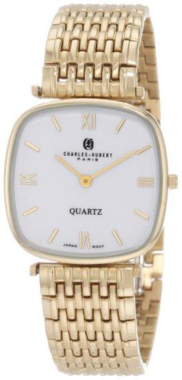 チャールズヒューバート Charles-Hubert, Paris 男性用 腕時計 メンズウォッチ ホワイト 3796 送料無料 【並行輸入品】