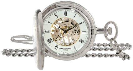 チャールズヒューバート Charles-Hubert, Paris 懐中時計 ポケット ウォッチ ホワイト 3860 送料無料 【並行輸入品】