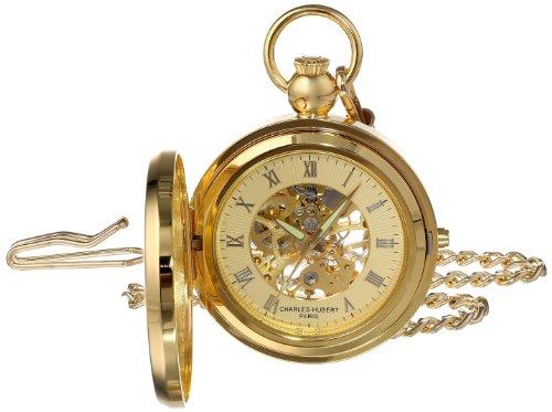 チャールズヒューバート Charles-Hubert, Paris 懐中時計 ポケット ウォッチ ゴールド 3848 送料無料 【並行輸入品】