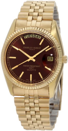 チャールズヒューバート Charles-Hubert, Paris 男性用 腕時計 メンズ ウォッチ ブラック 3400-OH 送料無料 【並行輸入品】