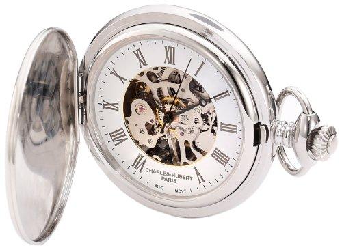 チャールズヒューバート Charles-Hubert, Paris 懐中時計 ポケット ウォッチ ホワイト 3929 送料無料 【並行輸入品】