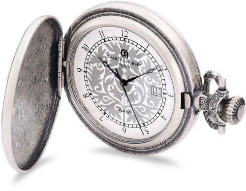 チャールズヒューバート Charles-Hubert, Paris 懐中時計 ポケット ウォッチ ホワイト 3924 送料無料 【並行輸入品】