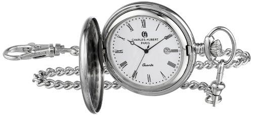 チャールズヒューバート Charles-Hubert, Paris 懐中時計 ポケット ウォッチ ホワイト 3551 送料無料 【並行輸入品】