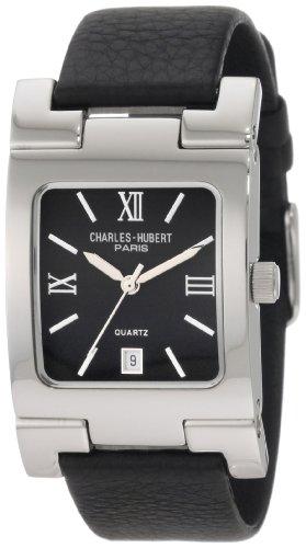 チャールズヒューバート Charles-Hubert, Paris 男性用 腕時計 メンズ ウォッチ ブラック 3747-B 送料無料 【並行輸入品】