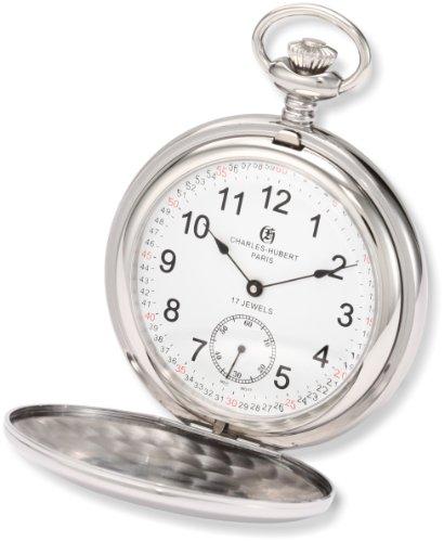 チャールズヒューバート Charles-Hubert, Paris 懐中時計 ポケット ウォッチ ホワイト 3907-WRR 送料無料 【並行輸入品】