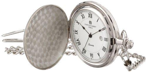 チャールズヒューバート Charles-Hubert, Paris 懐中時計 ポケット ウォッチ ホワイト 3940 送料無料 【並行輸入品】