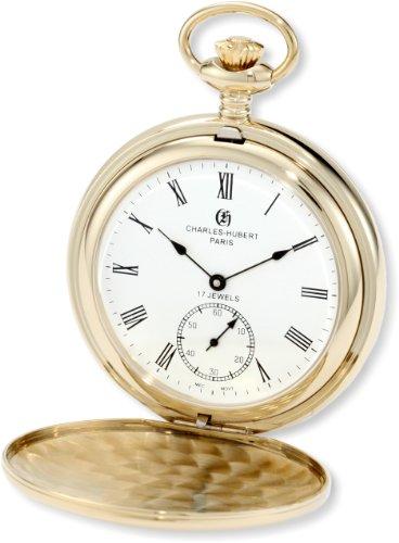 チャールズヒューバート Charles-Hubert, Paris 懐中時計 ポケット ウォッチ ホワイト 3907-GR 送料無料 【並行輸入品】