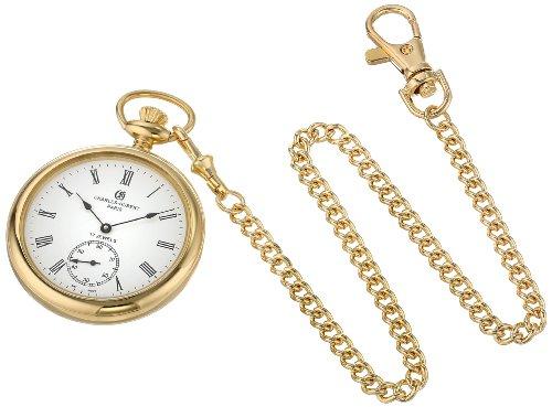 チャールズヒューバート Charles-Hubert, Paris 懐中時計 ポケット ウォッチ ホワイト 3756-GR 送料無料 【並行輸入品】