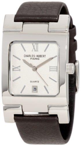 チャールズヒューバート Charles-Hubert, Paris 男性用 腕時計 メンズ ウォッチ ホワイト 3747-W 送料無料 【並行輸入品】