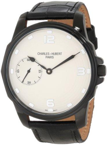 チャールズヒューバート Charles-Hubert, Paris 男性用 腕時計 メンズ ウォッチ ホワイト 3938 送料無料 【並行輸入品】