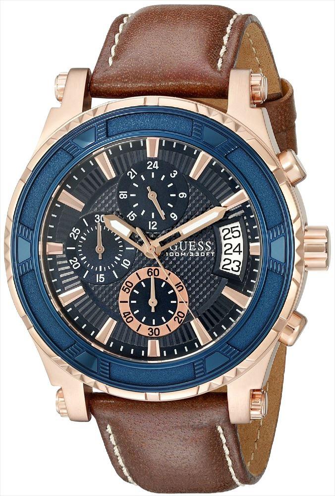 ゲス GUESS 男性用 腕時計 メンズ ウォッチ クロノグラフ ブルー U0673G3 送料無料 【並行輸入品】