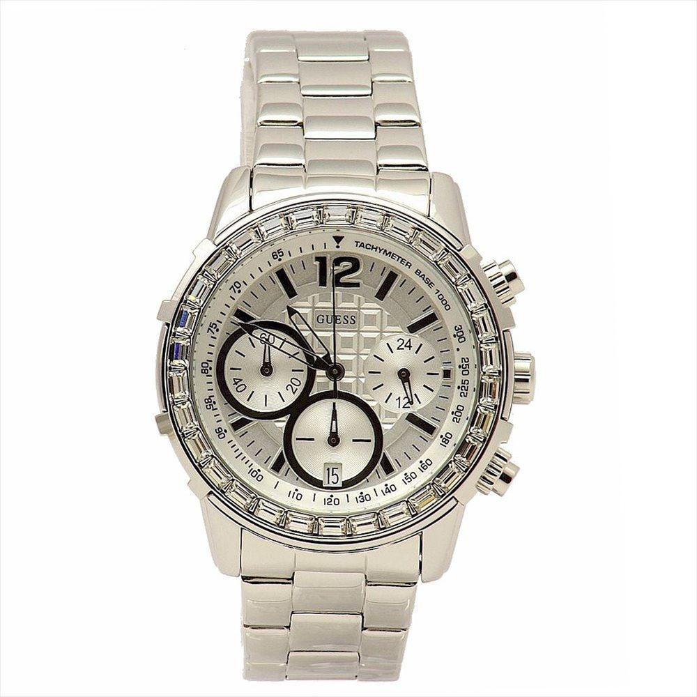 ゲス GUESS 女性用 腕時計 レディース ウォッチ クロノグラフ シルバー U0016L1 送料無料 【並行輸入品】
