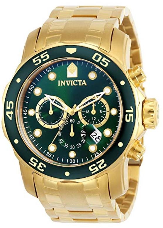 インビクタ Invicta インヴィクタ 男性用 腕時計 メンズ ウォッチ プロダイバーコレクション Pro Diver Collection クロノグラフ グリーン 0075 送料無料 【並行輸入品】