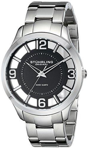 ストゥーリング オリジナル Stuhrling Original 男性用 腕時計 メンズ ウォッチ ブラック 754.02 送料無料 【並行輸入品】
