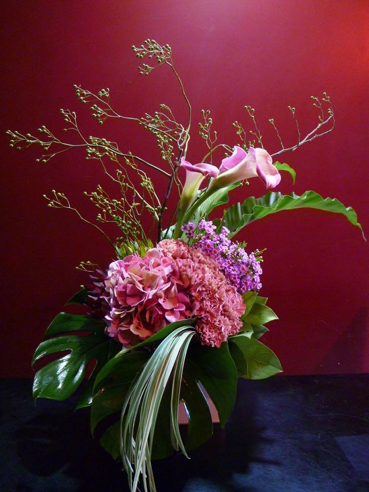 紫陽花 カラー PINK モンステラ ミスカンサス