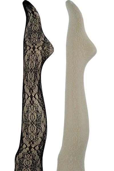 FRANZONI BLOOM floral fishnet tights