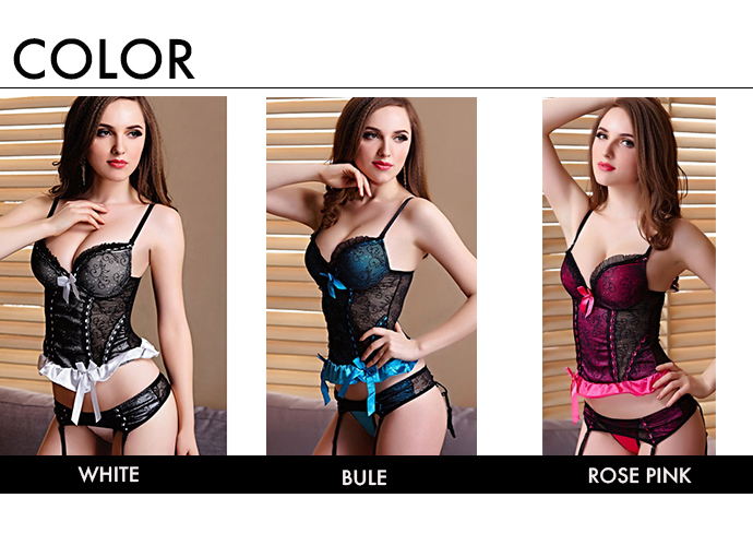 6ed24e2fd43 ... With luxurious corset three-in-one bustier corset sexy underwear shorts  & garter