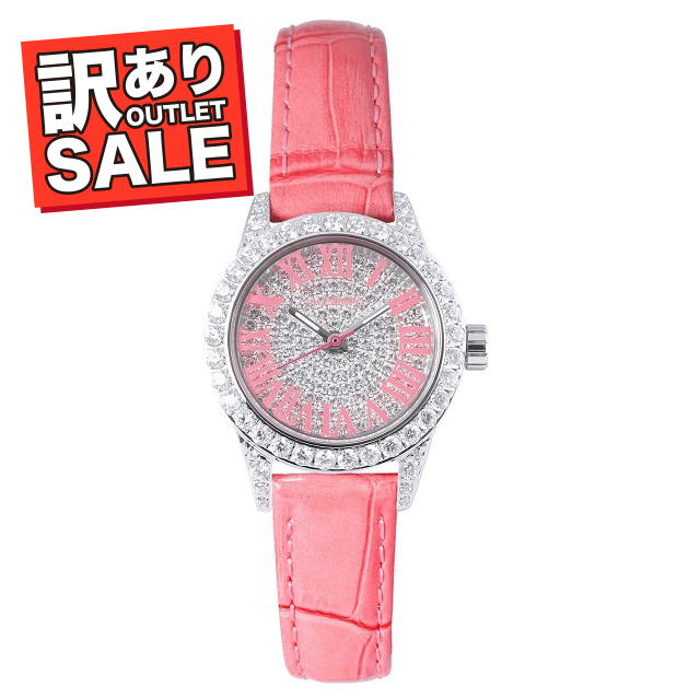 (50%OFF)(半額セール) 訳ありセール わけあり 腕時計 レディース スワロフスキー フェイスアワード Grace-P ピンク
