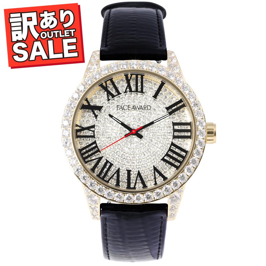 (50%OFF)(半額セール) 訳ありセール わけあり 腕時計 スワロフスキー フェイスアワード Grace ブラック