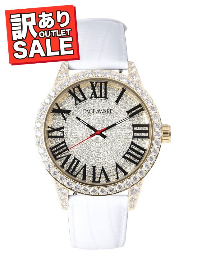 (50%OFF)(半額セール) 訳ありセール わけあり 腕時計 スワロフスキー フェイスアワード Grace ホワイト