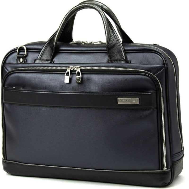 【ポイント10倍 クーポン配布中】 BERMAS バーマス M.I.J MADE IN JAPAN ビジネス 2way ビジネス ブリーフケース ショルダーバッグ B4 42cm 日本製 豊岡鞄 ネイビー 60036-NV