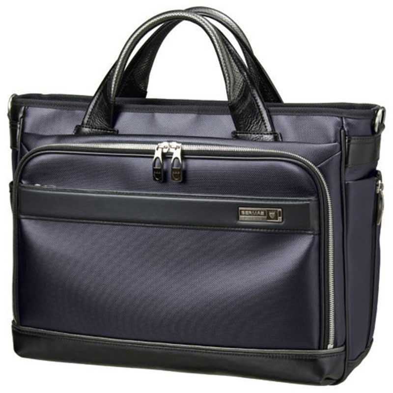 BERMAS バーマス M.I.J MADE IN JAPAN ビジネス 2way ビジネス トート ブリーフケース ショルダーバッグ B4 日本製 豊岡鞄 ネイビー 60037-NV