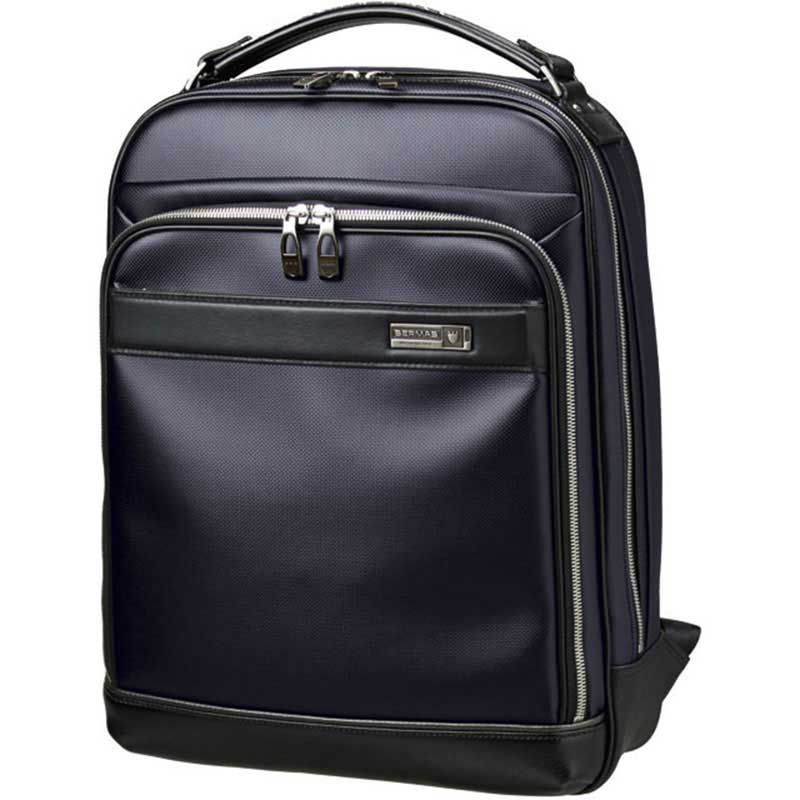 【全商品ポイント10倍】 BERMAS バーマス M.I.J MADE IN JAPAN ビジネス 2way ビジネス リュックサック バックパック B4 日本製 豊岡鞄 ネイビー 60038-NV