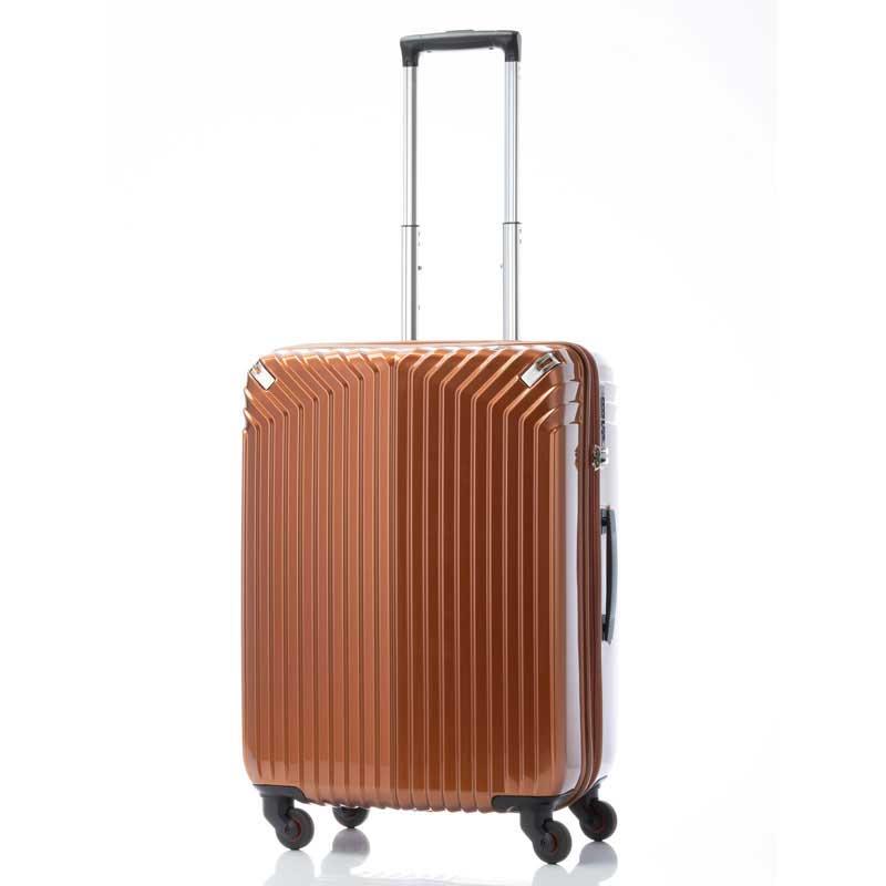 【全商品ポイント10倍】 HIDEO WAKAMATSU ヒデオワカマツ インライト M スーツケース ハードキャリー TSA 54L オレンジ 85-76470-OR