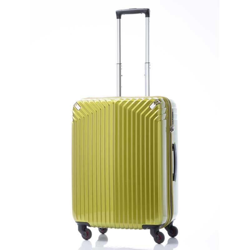 【全商品ポイント10倍】 HIDEO WAKAMATSU ヒデオワカマツ インライト M スーツケース ハードキャリー TSA 54L ライム 85-76470-LG