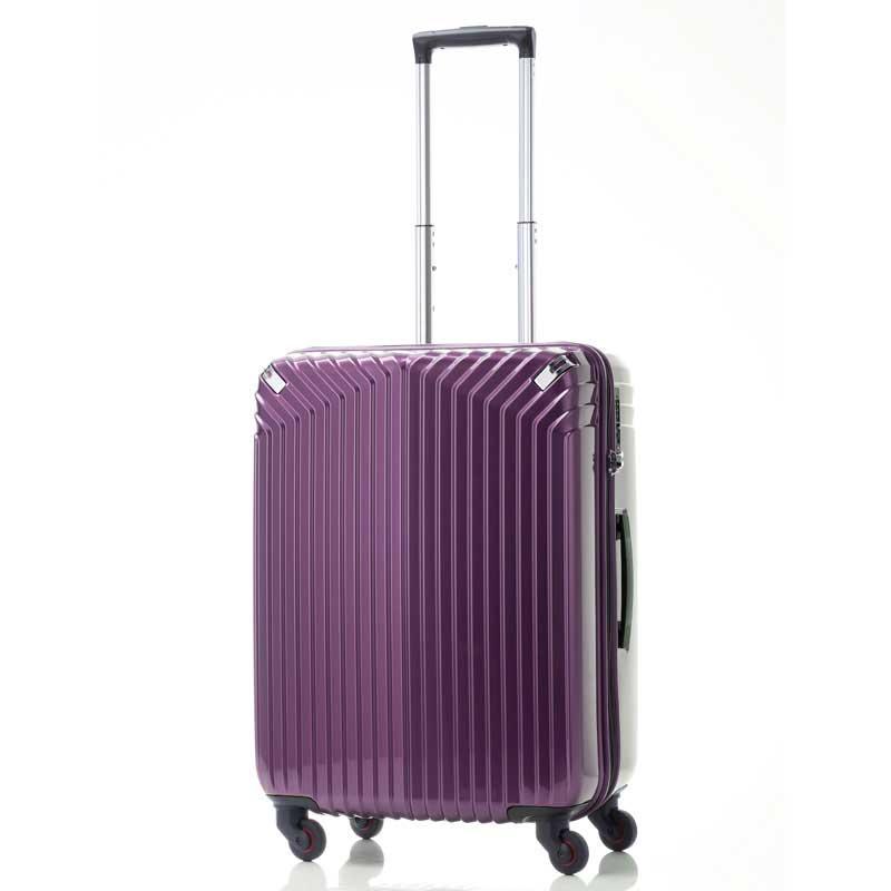 【全商品ポイント10倍】 HIDEO WAKAMATSU ヒデオワカマツ インライト M スーツケース ハードキャリー TSA 54L パープル 85-76470-PL
