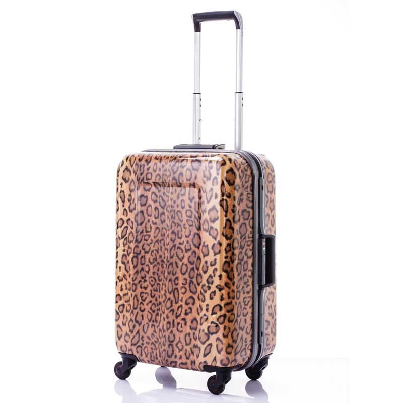 【全商品ポイント10倍】 HIDEO WAKAMATSU ヒデオワカマツ レパード M スーツケース ハードキャリー TSA 52L ベージュ 85-75881-BE