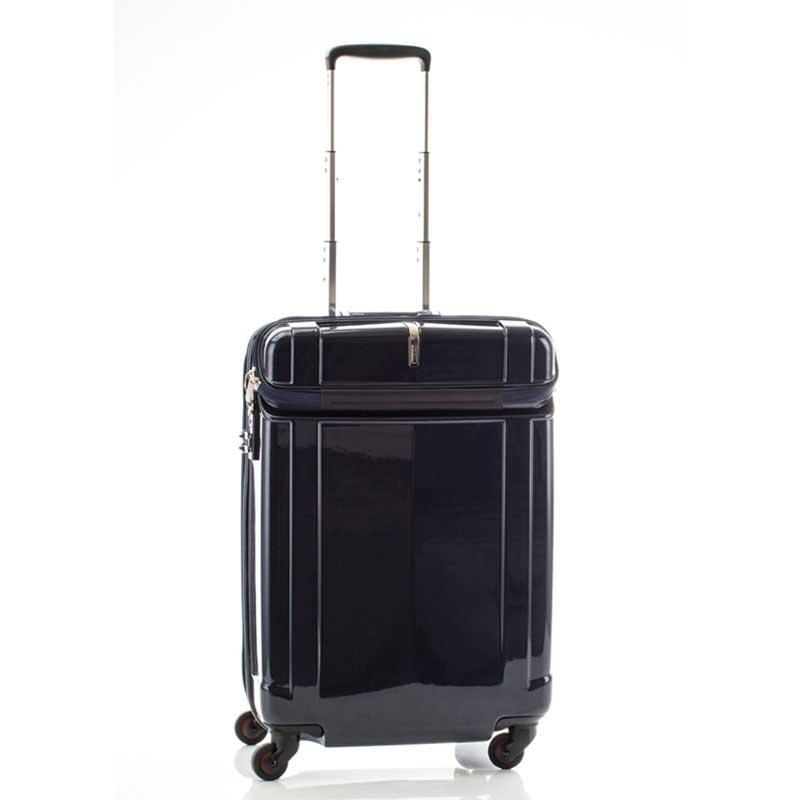 【全商品ポイント10倍】 HIDEO WAKAMATSU ヒデオワカマツ シェルパー トップオープン スーツケース M ハードキャリー TSA 59L ネイビー 85-76350-NV