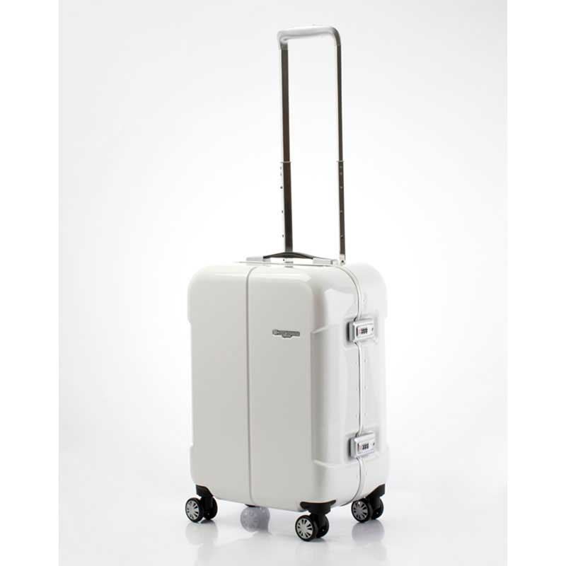 【全商品ポイント10倍】 HIDEO WAKAMATSU ヒデオワカマツ ナローII 超軽量 スーツケース S ハードキャリー TSA 機内持ち込み 36L ホワイト 85-76360-WH