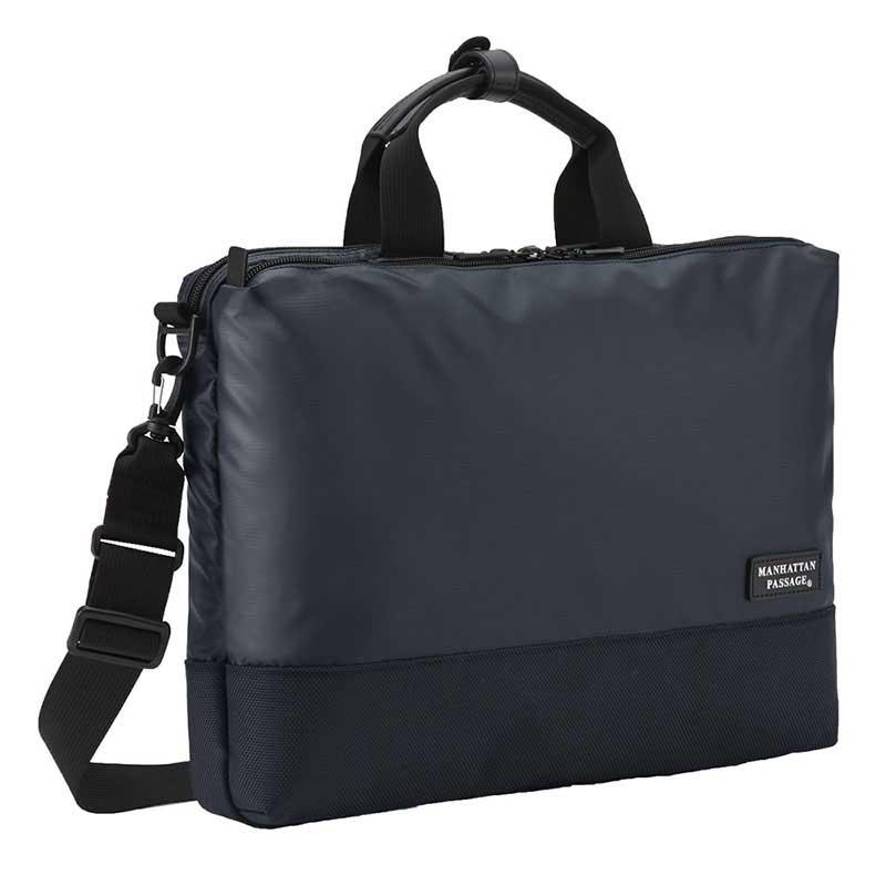 MANHATTAN PASSAGE マンハッタンパッセージ Slim Well-Organized Briefcase Plus2 スリムウェルオーガナイズド ブリーフケース ビジネス バッグ A4 ミッドナイトブルー #3210B-BL